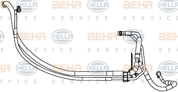 Tuyau de climatisation HELLA 9GS 351 337-681 (X1)
