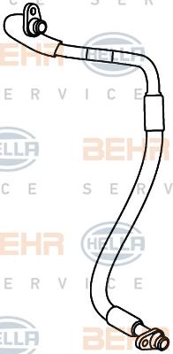 Flexible de climatisation HELLA 9GS 351 338-031 (X1)