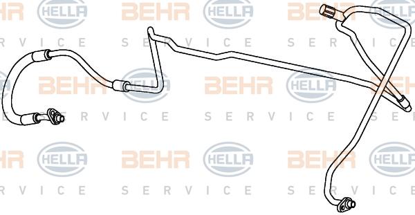 Flexible de climatisation HELLA 9GS 351 338-051 (X1)