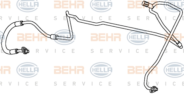 Flexible de climatisation HELLA 9GS 351 338-061 (X1)