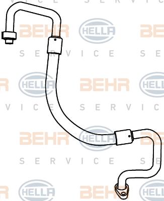 Tuyau de climatisation HELLA 9GS 351 338-121 (X1)