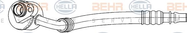Tuyau de climatisation HELLA 9GS 351 338-191 (X1)