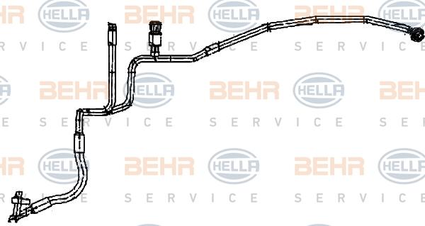 Flexible de climatisation HELLA 9GS 351 338-261 (X1)
