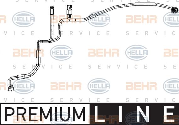 Flexible de climatisation HELLA 9GS 351 338-271 (X1)