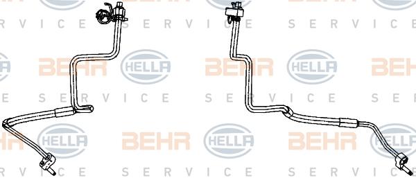 Flexible de climatisation HELLA 9GS 351 338-371 (X1)