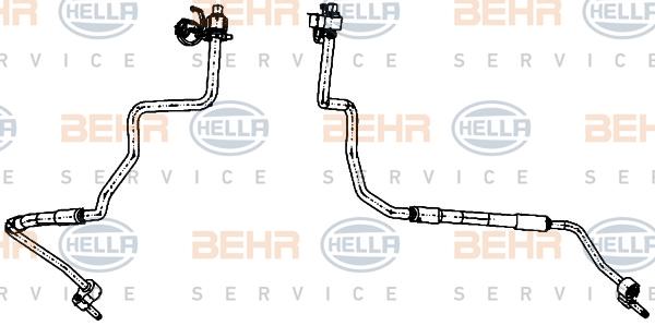 Flexible de climatisation HELLA 9GS 351 338-381 (X1)