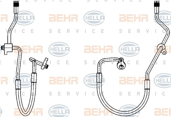 Flexible de climatisation HELLA 9GS 351 338-431 (X1)