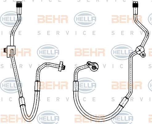 Flexible de climatisation HELLA 9GS 351 338-451 (X1)
