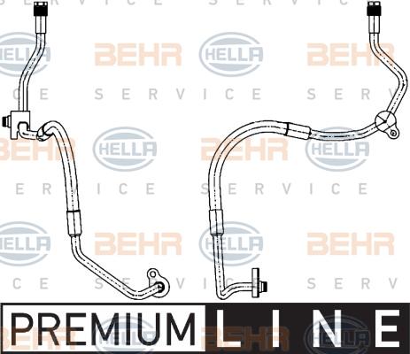 Flexible de climatisation HELLA 9GS 351 338-461 (X1)