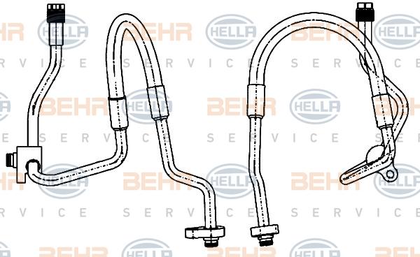 Flexible de climatisation HELLA 9GS 351 338-481 (X1)