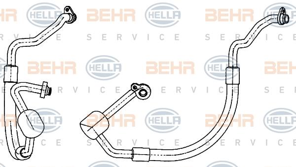 Tuyau de climatisation HELLA 9GS 351 338-511 (X1)