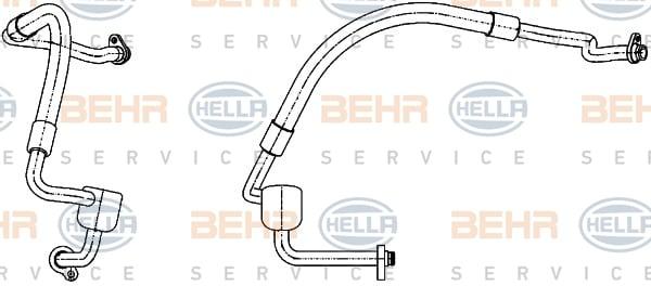 Tuyau de climatisation HELLA 9GS 351 338-551 (X1)