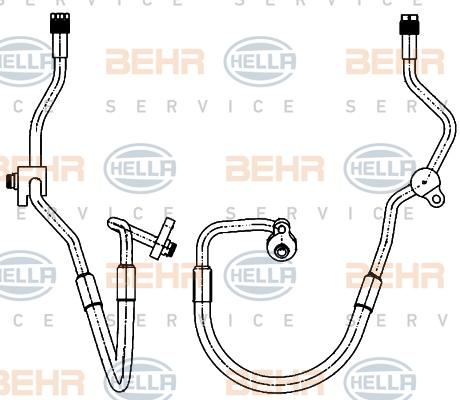 Flexible de climatisation HELLA 9GS 351 338-591 (X1)
