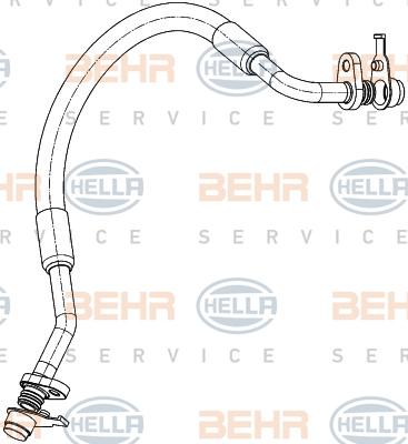 Flexible de climatisation HELLA 9GS 351 338-651 (X1)