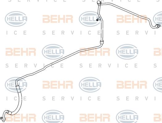 Flexible de climatisation HELLA 9GS 351 338-661 (X1)