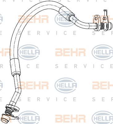 Flexible de climatisation HELLA 9GS 351 338-671 (X1)