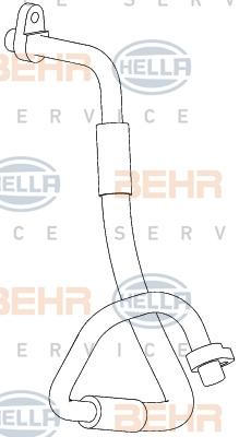 Flexible de climatisation HELLA 9GS 351 338-691 (X1)