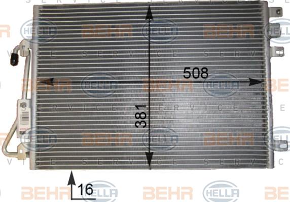 Condenseur / Radiateur de climatisation HELLA 8FC 351 343-431 (X1)