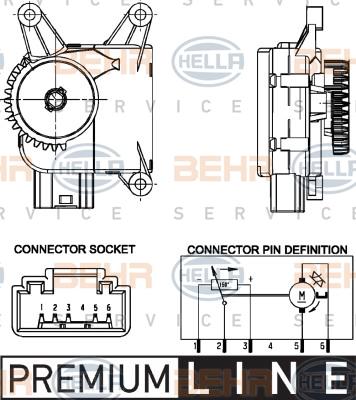 Actionneur de climatisation HELLA 6NW 351 344-021 (X1)