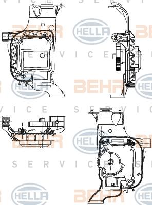 Actionneur de climatisation HELLA 6NW 351 344-031 (X1)