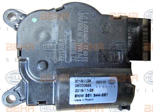 Actionneur de climatisation HELLA 6NW 351 344-381 (X1)