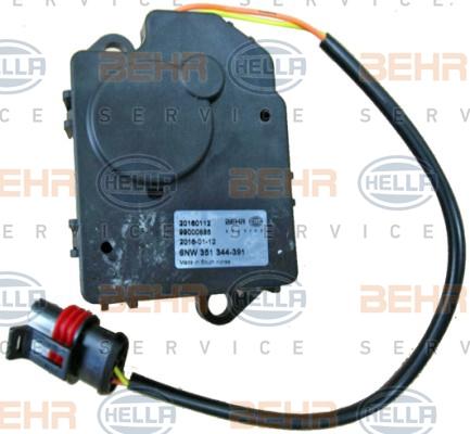 Actionneur de climatisation HELLA 6NW 351 344-391 (X1)