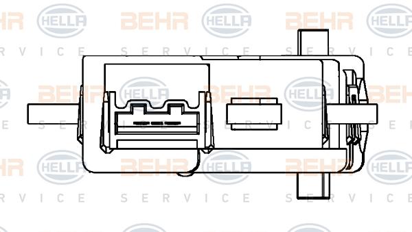 Actionneur de climatisation HELLA 6NW 351 345-211 (X1)