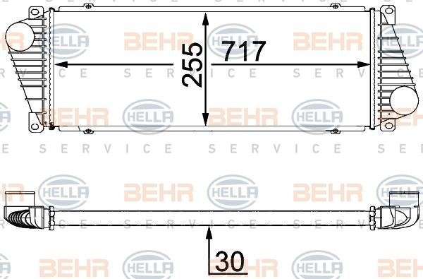 Intercooler radiateur de turbo HELLA 8ML 376 700-624 (X1)