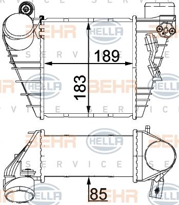 Intercooler radiateur de turbo HELLA 8ML 376 700-704 (X1)