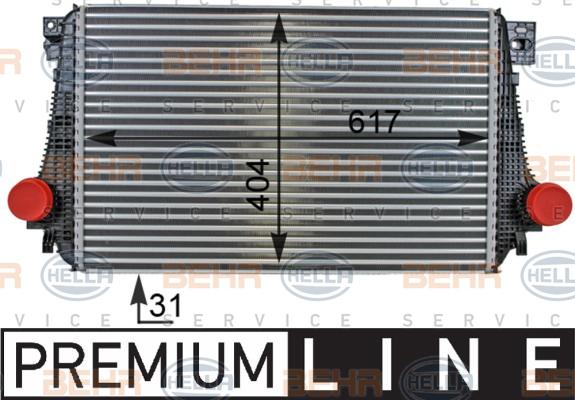 Intercooler radiateur de turbo HELLA 8ML 376 701-241 (X1)