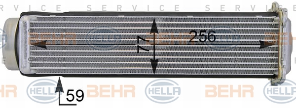 Intercooler radiateur de turbo HELLA 8ML 376 701-291 (X1)