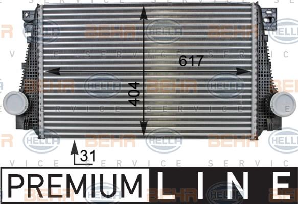 Intercooler radiateur de turbo HELLA 8ML 376 701-321 (X1)