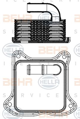 Radiateur huile HELLA 8MO 376 701-454 (X1)