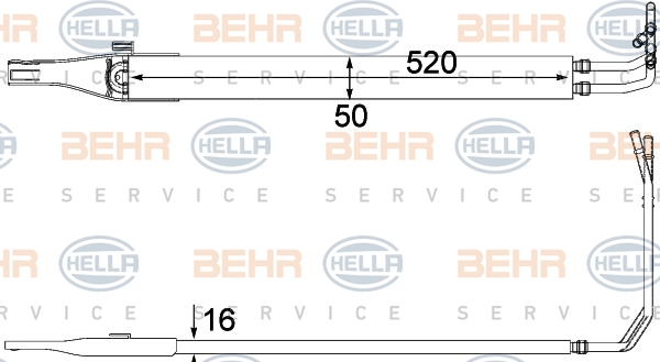Radiateur de direction HELLA 8MO 376 701-611 (X1)