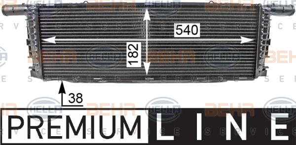 Radiateur de refroidissement HELLA 8MK 376 701-661 (X1)