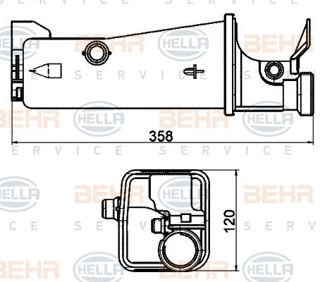 Vase d'expansion HELLA 8MA 376 702-174 (X1)