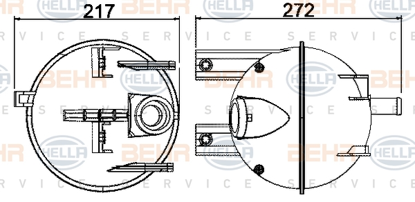 Vase d'expansion HELLA 8MA 376 702-224 (X1)