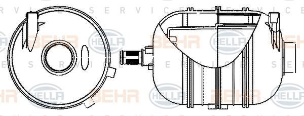 Vase d'expansion HELLA 8MA 376 702-324 (X1)