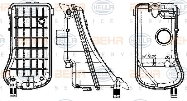 Vase d'expansion HELLA 8MA 376 702-334 (X1)
