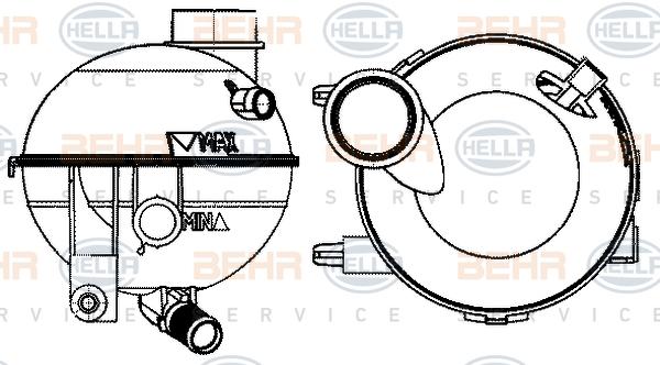 Vase d'expansion HELLA 8MA 376 702-364 (X1)