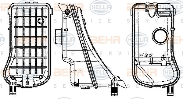 Vase d'expansion HELLA 8MA 376 702-374 (X1)