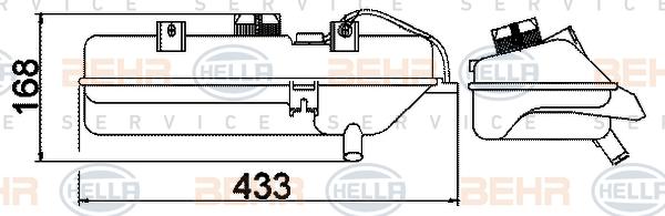 Vase d'expansion HELLA 8MA 376 702-394 (X1)