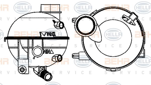 Vase d'expansion HELLA 8MA 376 702-414 (X1)