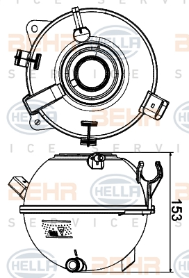 Vase d'expansion HELLA 8MA 376 702-434 (X1)