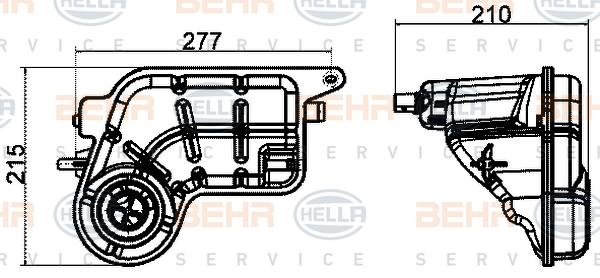 Vase d'expansion HELLA 8MA 376 702-454 (X1)