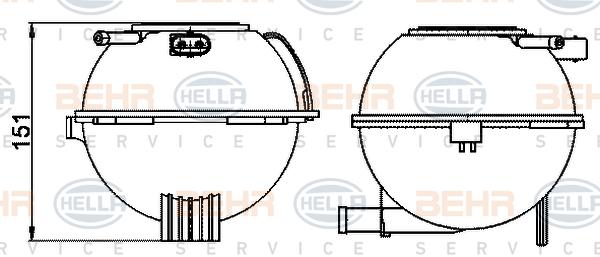 Vase d'expansion HELLA 8MA 376 702-474 (X1)