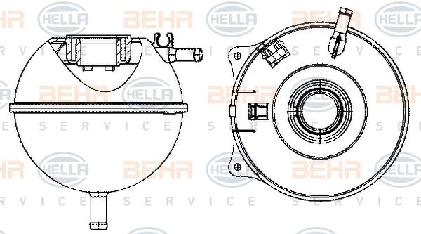 Vase d'expansion HELLA 8MA 376 702-484 (X1)