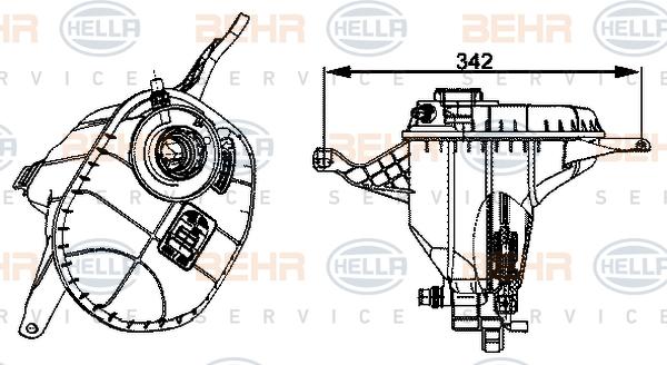 Vase d'expansion HELLA 8MA 376 704-004 (X1)