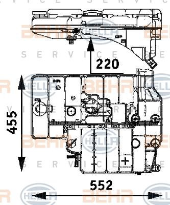 Vase d'expansion HELLA 8MA 376 705-191 (X1)