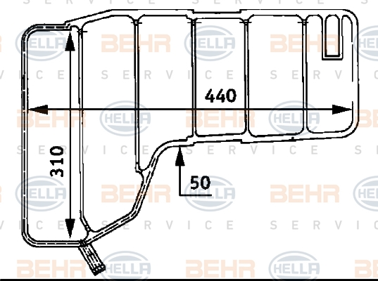 Vase d'expansion HELLA 8MA 376 705-204 (X1)